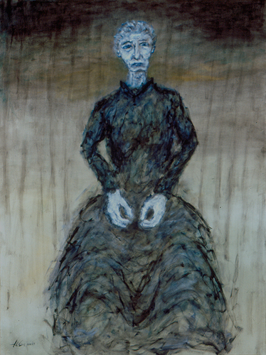 "Grandma / 祖母 / Oma, Oil on Canvas, 40"" x 30"", Completed in 2003"