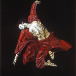 "Leap / 躍 / Sprung, Oil on Canvas, 30"" x 40"", Completed in 2001"