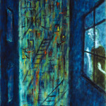 "Net / 網 / Netz, Oil on Canvas, 30"" x 24"", Completed in 2003"