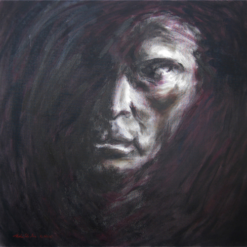 "Pierce / 犀利 / Durchsehen, Oil on Canvas, 24"" x 24"", Completed in 2011"