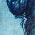 "Sisyphus / 西西弗斯 / Sisyphus, Oil on Canvas, 48"" x 24"", Completed in 2003"
