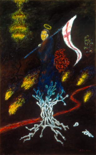 "The Triumph of Saint George / 聖喬治的勝利 / Der Triumph des Heilige George, Oil on Canvas, 48"" x 30"", Completed in 2003"
