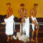 Three Figures / 三個人像 / Drei Figuren, Oil on Canvas, 36
