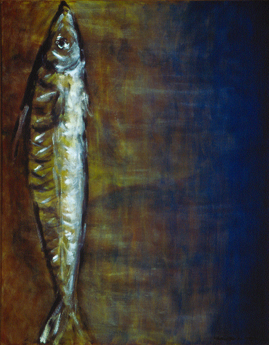 "Mackerel / 鯖魚 / Makrele, Oil on Canvas, 28"" x 22"", Completed in 2007"