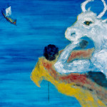 "Minotaur, Oil on Canvas, 24"" x 30"", Completed in 2005"