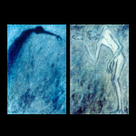 "Diptych - Sorrow and Suffering, Oil on Canvas, 36"" x 24"" and 36"" x 24"", Completed in 2003"