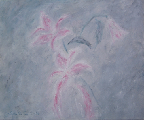 Lilies, Oil on Canvas, 20 x 24, Completed in 2010