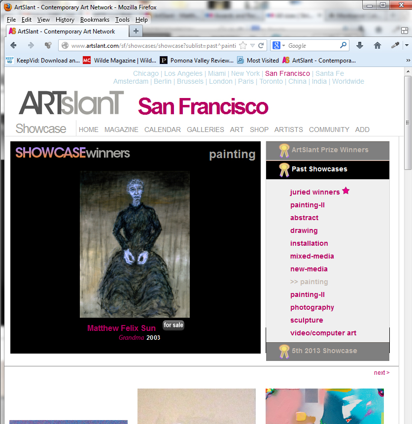 2nd 2011 ArtSlant Showcase Award