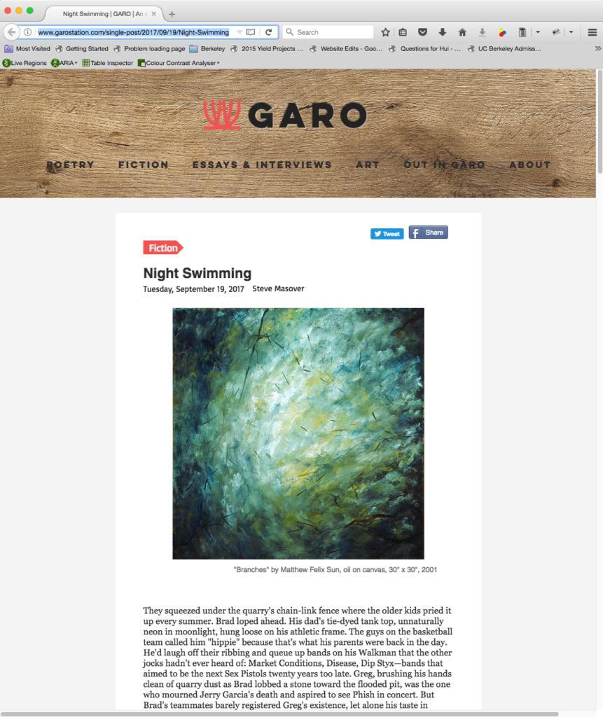 Garo Magazine, 2017