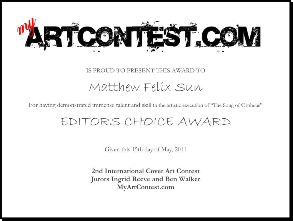 Editors Choice Award - Artist Portfolio Magazine