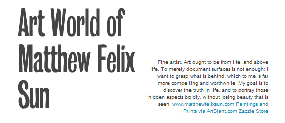 The Art World of Matthew Felix Sun on Tumblr
