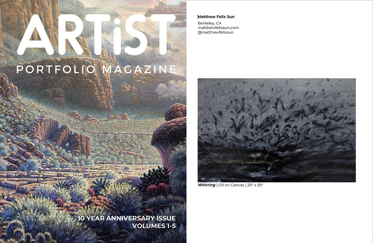 Whirring in Artist Portfolio Magazine, 10 year anniversary issue