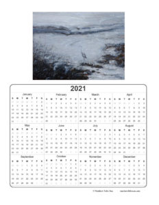 2021 Calendar - Expectation in Marshland