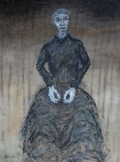 Grandma, 40x30, oil on canvas, 2003