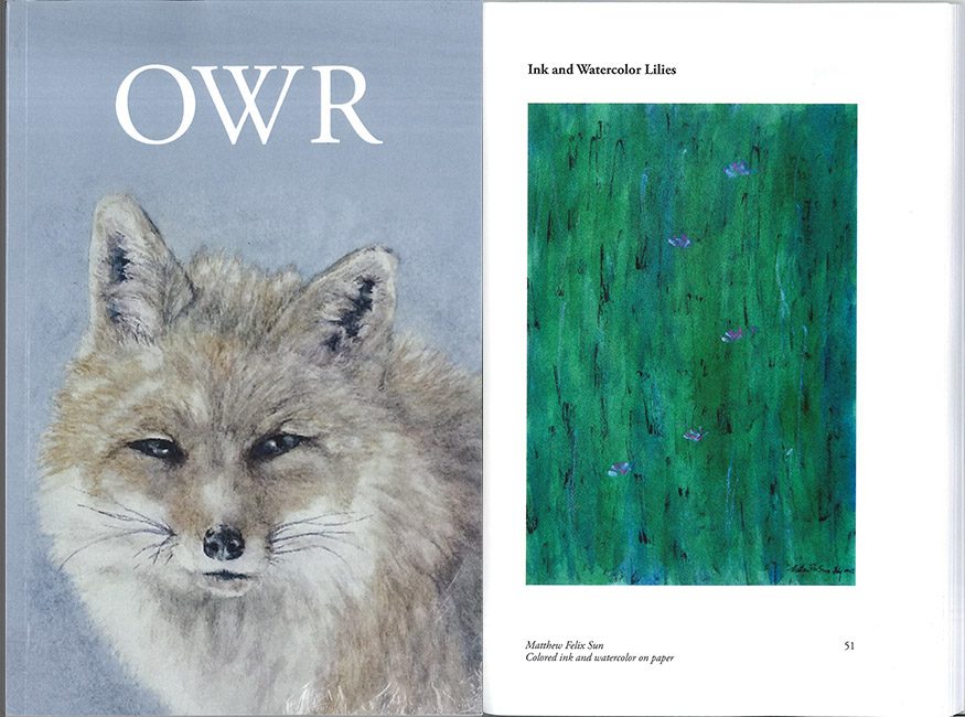 Ink and Watercolor Lilies published by Owen Wister Review, 2015