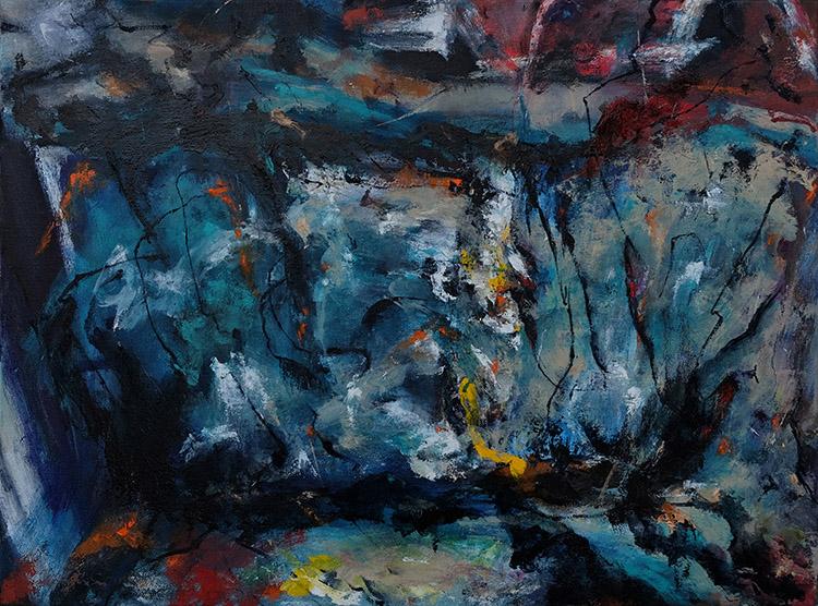 "Disintegration, 18""x24"", Oil on Canvas, 2020"