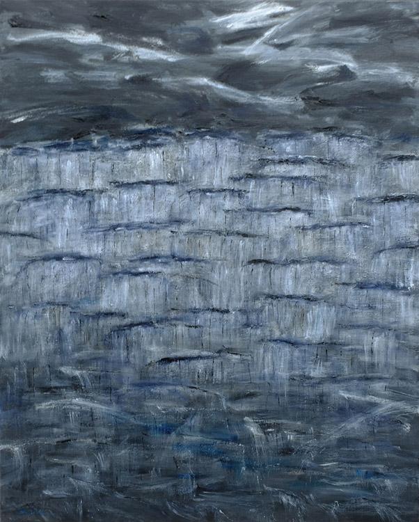 """Interlocked, Oil on Canvas, 30""""x24"""", 2018"""