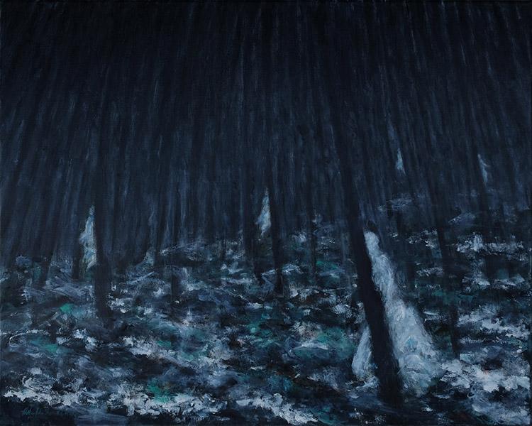 """Waiifs, Oil on Canvas, Oil on canvas, 24""""x30"""", 2020"""