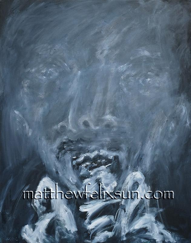 "Postscript, Oil on Canvas, 28"" x 22"", 2021"